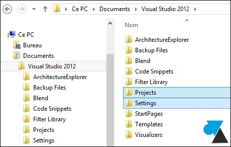 sauvegarde Visual Studio backup