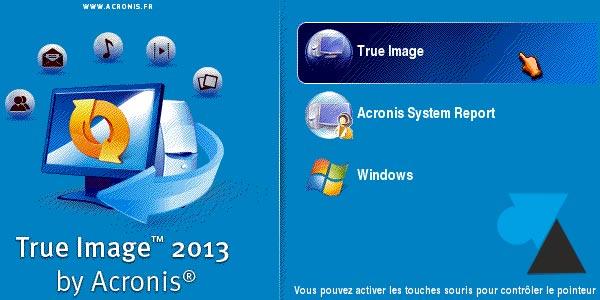 Problème entre Acronis True Image et ordinateurs / tablettes Windows
