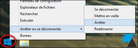 comment arreter l ordinateur avec le clavier