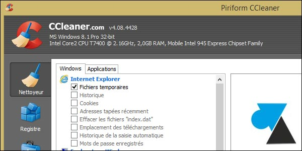 nettoyer son pc gratuitement windows 8