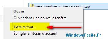 Extraire fichier personnaliser icon