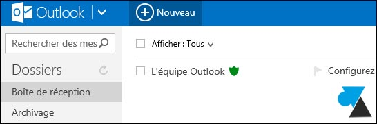 outlook com boite reception