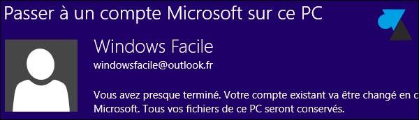 comment changer compte utilisateur Microsoft Windows