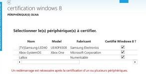 Windows 8 8.1 peripherique DLNA TV