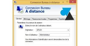 W8F script bat mstsc connexion bureau a distance rdp