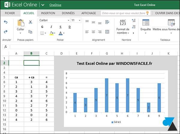 Office Online Excel gratuit