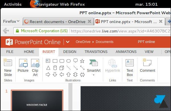 Office Online PowerPoint gratuit Linux