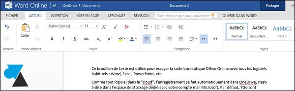 Office Online Word gratuit