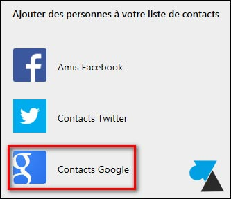 tutoriel Outlook Hotmail importer contacts Gmail Google