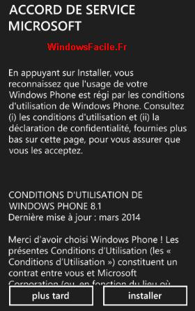 WP81 conditions utilisations