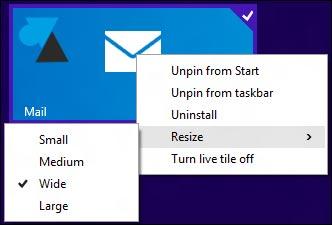 Windows 8.1 update 1 clic droit tuile