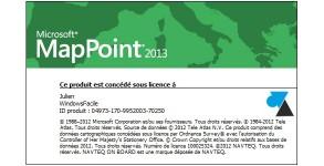 W8F tutoriel Microsoft MapPoint 2013 Europe