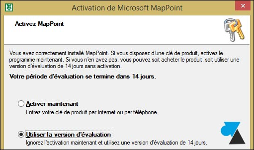 tutoriel installer Microsoft MapPoint 2013 Europe trial