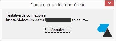 tutoriel Windows connecter lecteur reseau OneDrive