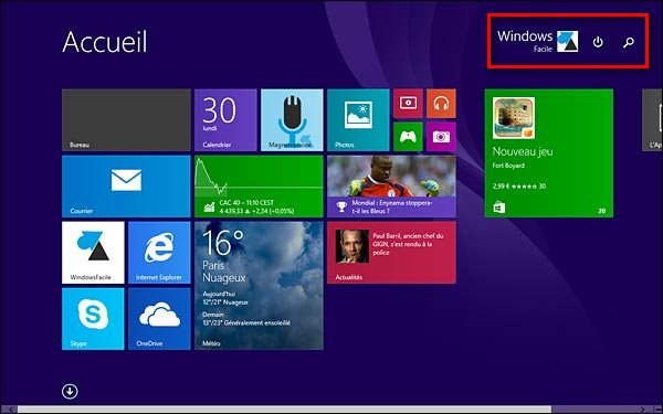 ecran accueil Windows 8.1 update 1