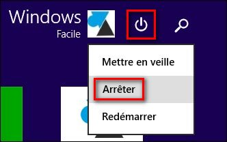 bouton arreter Windows 8.1 update 1