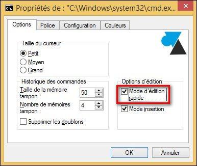 invite de commandes dos cmd mode edition rapide Linux
