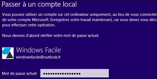 tutoriel Windows8 deconnecter compte Microsoft local