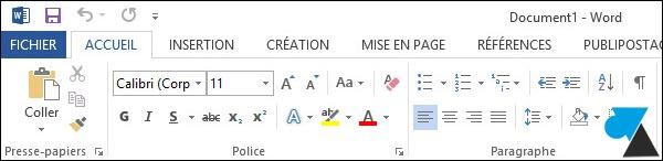 tutoriel changer couleur Office 2013 Word Excel PowerPoint Outlook