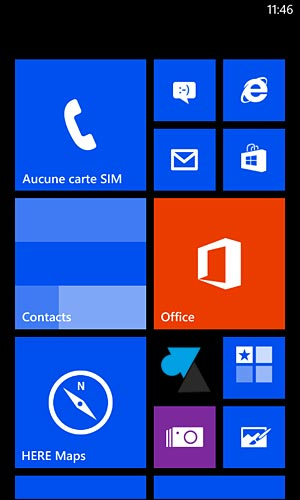 Nokia Lumia Windows Phone 8 ecran accueil