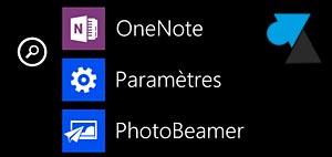 Nokia Lumia Windows Phone menu Parametres