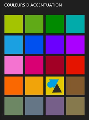 Nokia Lumia Windows Phone theme couleur icone