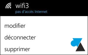 Nokia Lumia Windows Phone parametres reseau wifi proxy