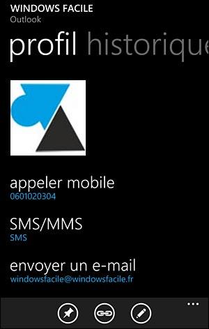 tutoriel Windows Phonr ajouter nouveau contact Nokia Lumia