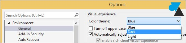 tutoriel Visual Studio Community 2013 changer couleur