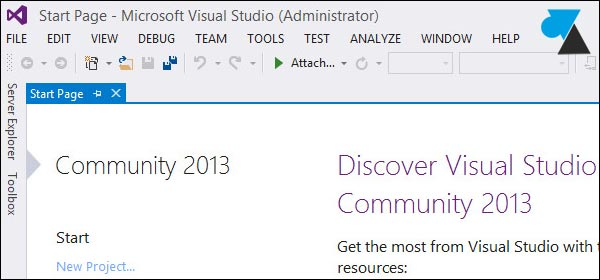 tutoriel Visual Studio Community 2013 couleur light
