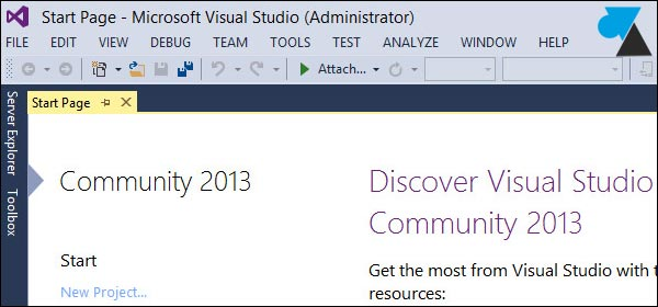 tutoriel Visual Studio Community 2013