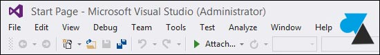 tutoriel Visual Studio 2013 menu miniscule