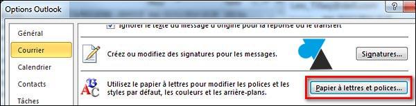 tutoriel Outlook 2010 changer police couleur texte mail