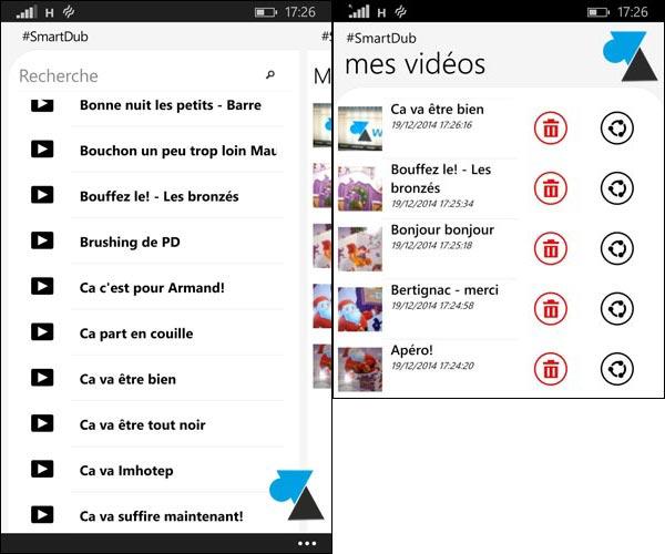 dubsmash application smartdub windows phone