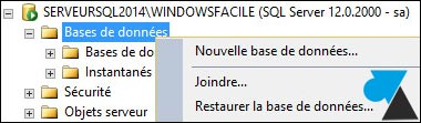 tutoriel SQL Server 2014 nouvelle base de donnees