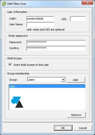 tutoriel VMware ESXi vSphere ajouter utilisateur add user