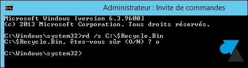 tutoriel vider corbeille Windows utilisateurs