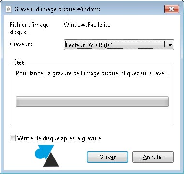 tutoriel Windows 7 graver fichier iso