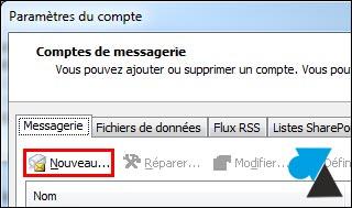 tutoriel Outlook ajouter compte Gmail Google Apps