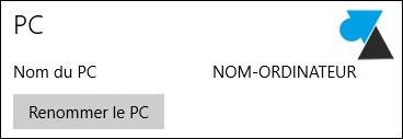 Windows 10 tutoriel changer nom PC ordinateur