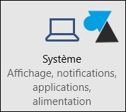 Windows 10 panneau configuration parametres Systeme