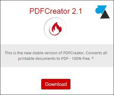 tutoriel pdfcreator telecharger logiciel gratuit PDF Creator