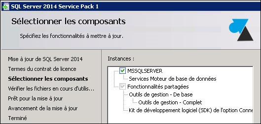 tutoriel telecharger installer SQL Server 2014 SP1