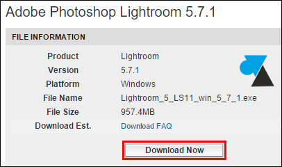 telecharger installer gratuit Adobe Photoshop Lightroom