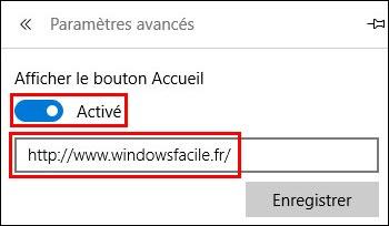 tutoriel Microsoft Edge icone bouton page accueil demarrage
