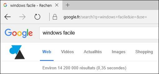 tutoriel Microsoft Edge navigateur Google