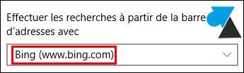 tutoriel Microsoft Edge navigateur Bing moteur recherche par defaut