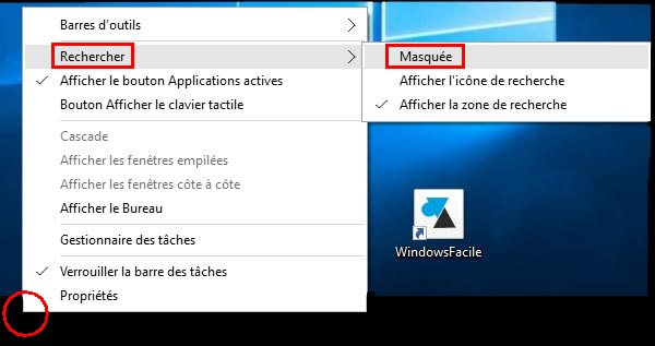 windows 10 supprimer la barre de recherche windowsfacile fr iPad Mail Symbol ipad mail user guide