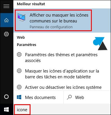 Windows 10 remettre l 39 ic ne de la corbeille sur le - Afficher ordinateur sur bureau windows 8 ...