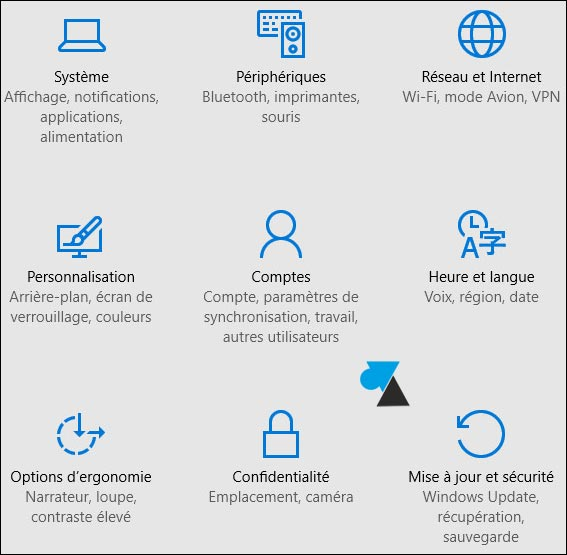 tutoriel Windows 10 Parametres